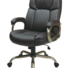 Executive Big Man's Chair with Espresso Eco Leather Seat and Back