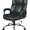 Executive Big Man's Chair with Black Eco Leather Seat and Back