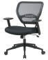 Professional Air-Grid Back Managers Chair with Black Mesh Seat