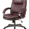 Executive Brown Eco Leather Chair with Locking Tilt Control and Coated