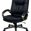Executive Black Eco Leather Chair with Locking Tilt Control and Coated